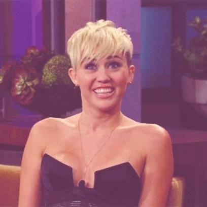 Happy Smile Gif Tumblr Miley Cyrus Happy Smile Gif