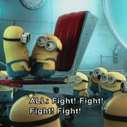 Fighting Minions Gif Minions Fight Night Gif In