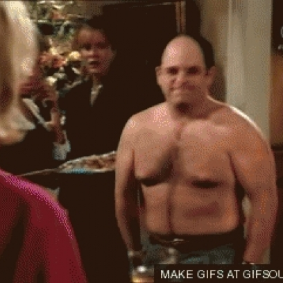 . Geroge Costanza Awkward   Shirtless On Seinfeld