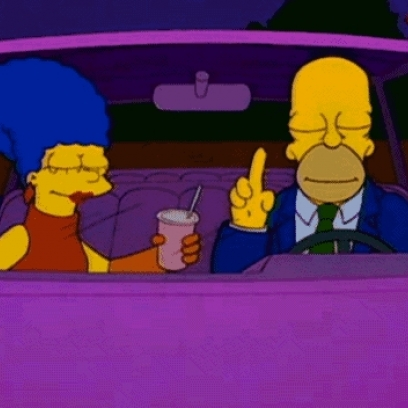 Homer  Marge Dance  Listen To Music In The Car On The Simpsons