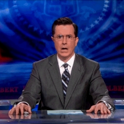Stephen Colbert Frozen Jaw Drop Gif On The Colbert Report Gif