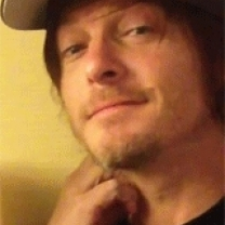 Norman reedus nose wiggle a kiss for the camera