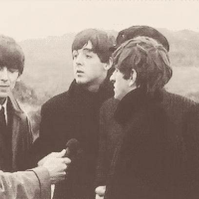 John Lennon Gets Ringo Star To Smile For The Camera