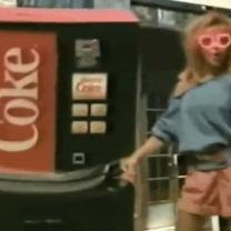 Retro Coke Commercial In The 80′s Dance