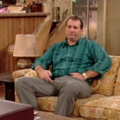 Al Bundy Bored At Home Switching The TV Channel On Married With Children