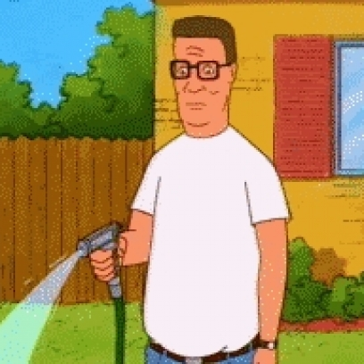 Hank Hill Waters His Lawn & Realizes He Made a Huge Mistake