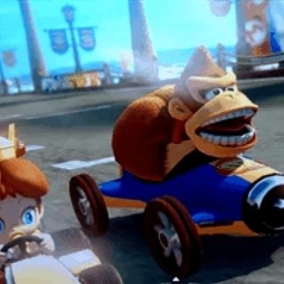 Donkey Kong Awkwardly Checks Out Baby Princess Daisy In The New