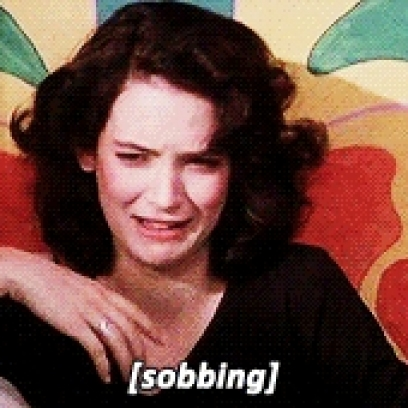 winona ryder as veronica starts sobbing after laughing a little in