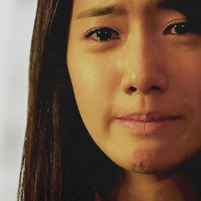 Sad Asian Girl Tears Up Reaction Gif