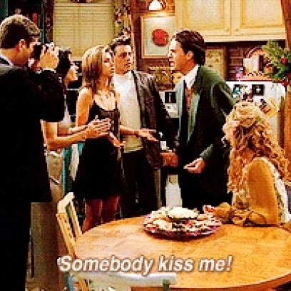 Chandler Begs For Someone To Kiss Him On New Years Eve On Friends